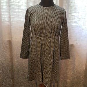 Zara NWT pleated plaid dress
